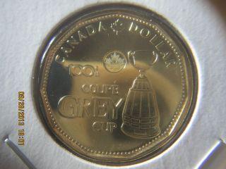 Canada 2012 100th Anniversary Grey Cup Dollar