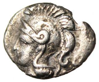 Calabria Tarentum (taras) Silver Diobol