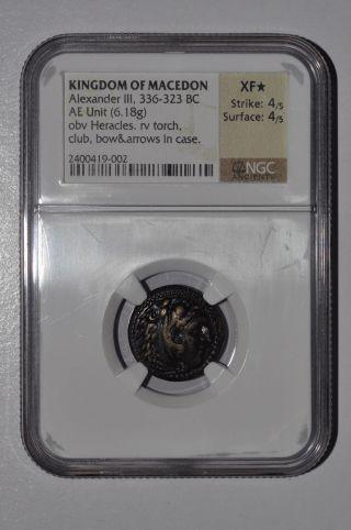 Kingdom Of Macedon: Alexander Iii 336 - 323 Ae Unit (6.  18g) Ngc Xf Star Coin 4/5 photo
