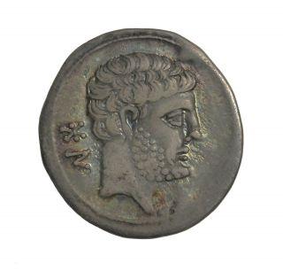 Hispania Spain Bolskan Osca 150 - 100 Bc Ar Drachm Ancient Greek Coin photo