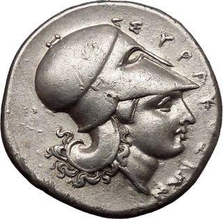 Sicily: Syracuse,  3rd Republic,  Timoleon.  344 - 317 Bc.  Silver Didrachm.  Pegasos. photo