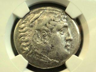 Greek Coin Alexander Iii Posthumous Pamphylia Aspendus Ar Tetradrachm Ngc Ch Vf photo