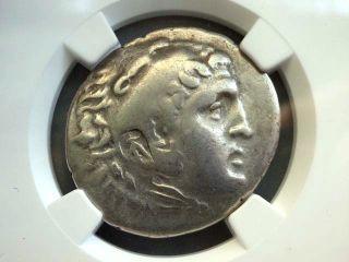 Greek Coin Alexander Iii Posthumous Pamphylia Aspendus Ar Tetradrachm Ngc Ch F photo