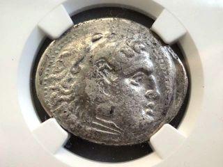 Greek Coin Alexander Iii Posthumous Pamphylia Aspendus Ar Tetradrachm Ngc Vf photo