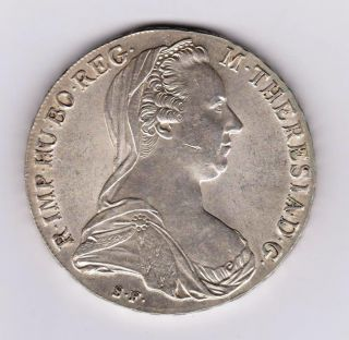 Austria 1780 Thaler Maria Theresa Silver photo