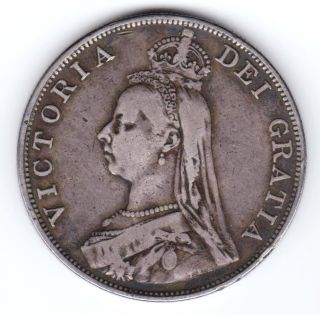 Gb Qv 1889 Double Florin (4 Shillings) Silver photo