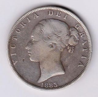 Gb Qv Half Crown 1883 Silver photo