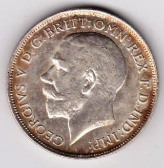 1918 George V Silver Florin - Ef A Unc photo