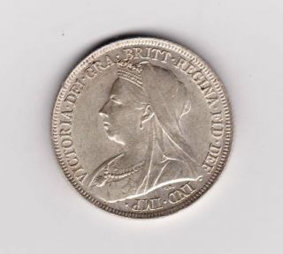 Gb Qv Shilling 1896 Aef - Ef photo