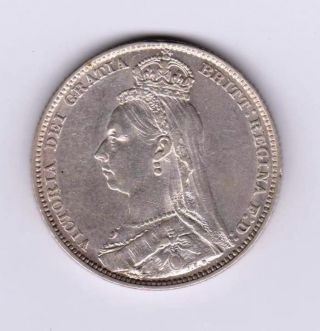 Gb Qv Shilling 1891 Gef photo