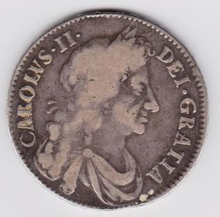 Charles Ii Half Crown 1676 Reversed 1 Vicesimo Octavo photo