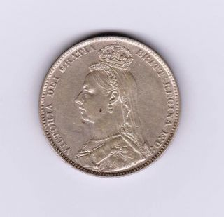 Gb Qv Shilling 1890 photo