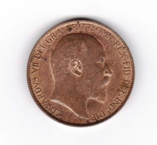 Gb Ke Vii Half Penny 1908 A Unc With Lustre photo