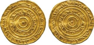 985 Ad Cairo Egypt Islamic Gold Coin 375 Ah Fatimid Dinar Al - Aziz Vf+ photo