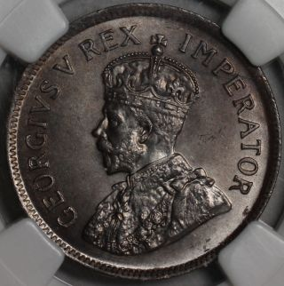 1924 Ngc Ms 65 South Africa 1/2 Penny Rare Grade State Coin photo