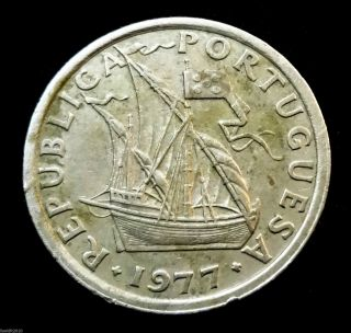 Portugal,  1977 2$50 Escudos Ship Coat Of Arms Of Portugal Coin photo