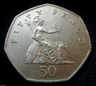 United Kingdom,  Gb.  1997 50 Pence Elizabeth Ii