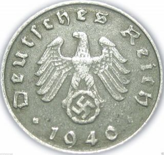 ♡ Germany - German Third Reich 1940g 5 Reichspfennig - Ww2 Coin W/ Swastika photo