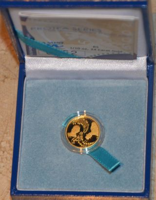 2009 Nelson Mandela Protea National Anthem 1/10th 24ct Gold Coin South Africa photo