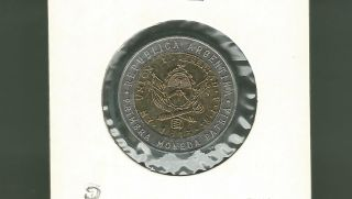 Argentina 1995 C Peso Bi - Metallic Unc Coin photo