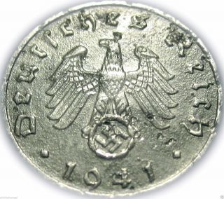 ♡ Germany - German Third Reich 1941b 5 Reichspfennig - Ww2 Coin W/ Swastika photo