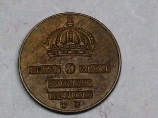Bronze 1952 5 Ore From Sweden photo