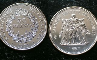 France / 50 Francs - 1978 / Silver Coin photo