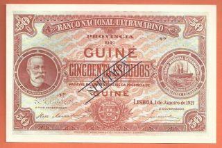 Portuguese Guine - 50 Escudos 1921 - Specimen - ChamiÇo - Very Rare photo