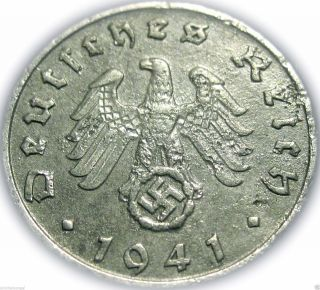 ♡ Germany - German Third Reich 1941g 5 Reichspfennig - Ww2 Coin W/ Swastika photo