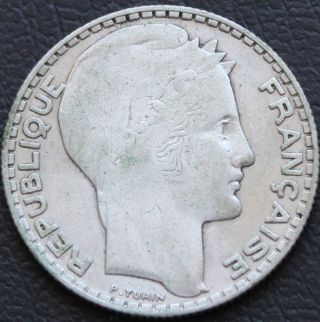 French 10 Francs 1933 Silver Coin photo