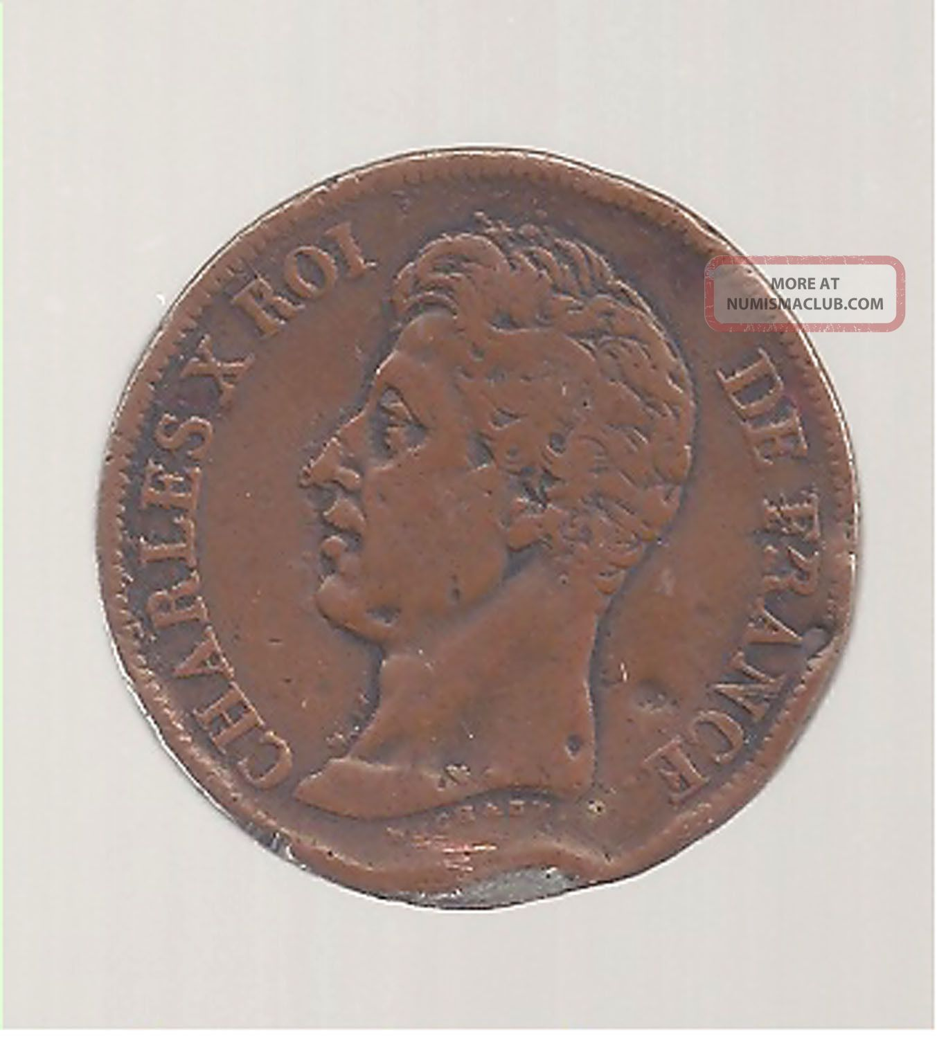 1829 France 5 F Copper Pattern Over Silver 24 Grams Coin Europe photo