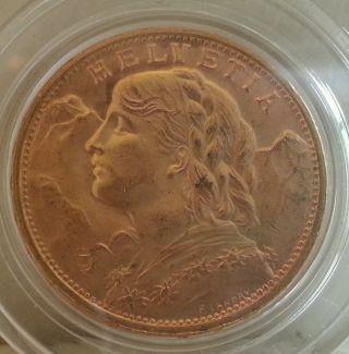 Gold Switzerland 20 Francs,  1949b photo