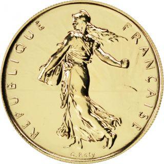 Vème République,  1 Franc Semeuse Or 2001 photo