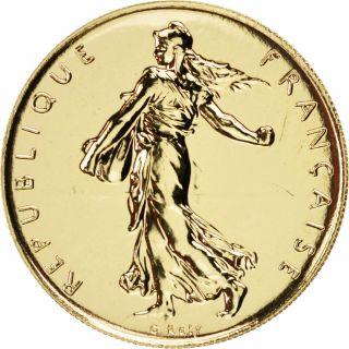 Vème République,  1 Franc Semeuse Or 2000 photo