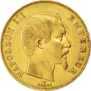 Second Empire,  50 Francs Or Napoléon Iii Tête Nue photo