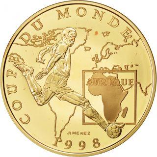 Vème République,  100 Francs Or,  Coupe Du Monde 1998,  Afrique photo