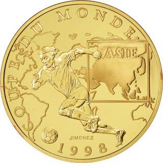 Vème République,  100 Francs Or,  Coupe Du Monde 1998,  Asie photo