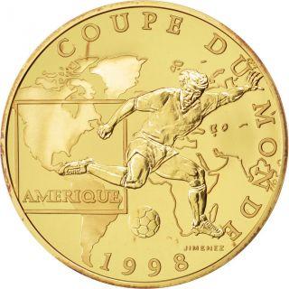 Vème République,  100 Francs Or,  Coupe Du Monde 1998,  Amérique photo