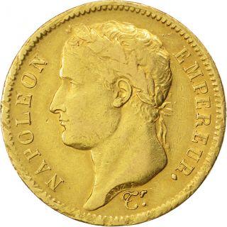 Premier Empire,  40 Francs Or Au Revers Empire,  Variété photo