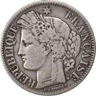 Iième République,  2 Francs Cérès,  1849 A Paris photo
