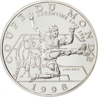 Vème République,  10 Francs,  Coupe Du Monde 1998,  Argentine photo