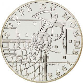 Vème République,  10 Francs,  Coupe Du Monde 1998,  Idéal Du Football photo