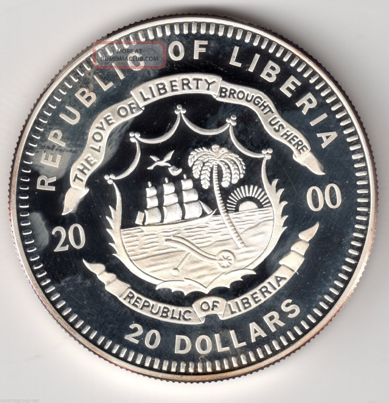 2000 Republic Of Liberia Quot Louisiana Purchase Quot 20 Dollar