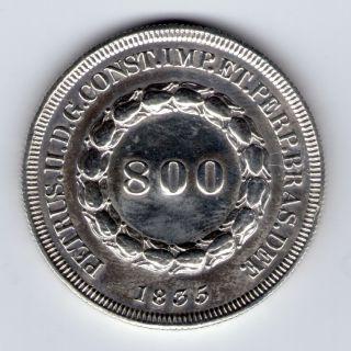 Brazil 800 Reis 1835 Rare photo