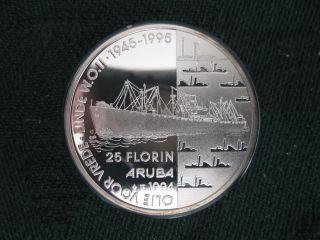 Aruba 25 Florin,  1994,  Oil For Peace (wwii) photo
