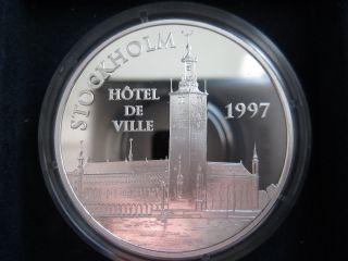 France 100 Francs - 15 Euro,  1997,  Stockholm - Hotel De Ville photo