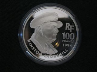 France 100 Francs,  1994,  Winston Churchill photo