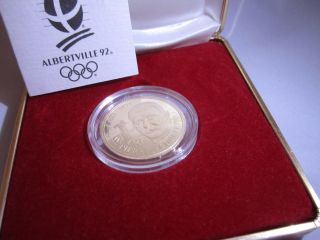 France 500 Francs,  1991,  Pierre De Coubertin,  1992 Olympics photo