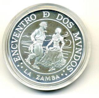 Argentina 25 Pesos 1997 Zamba Km 123 Proof photo