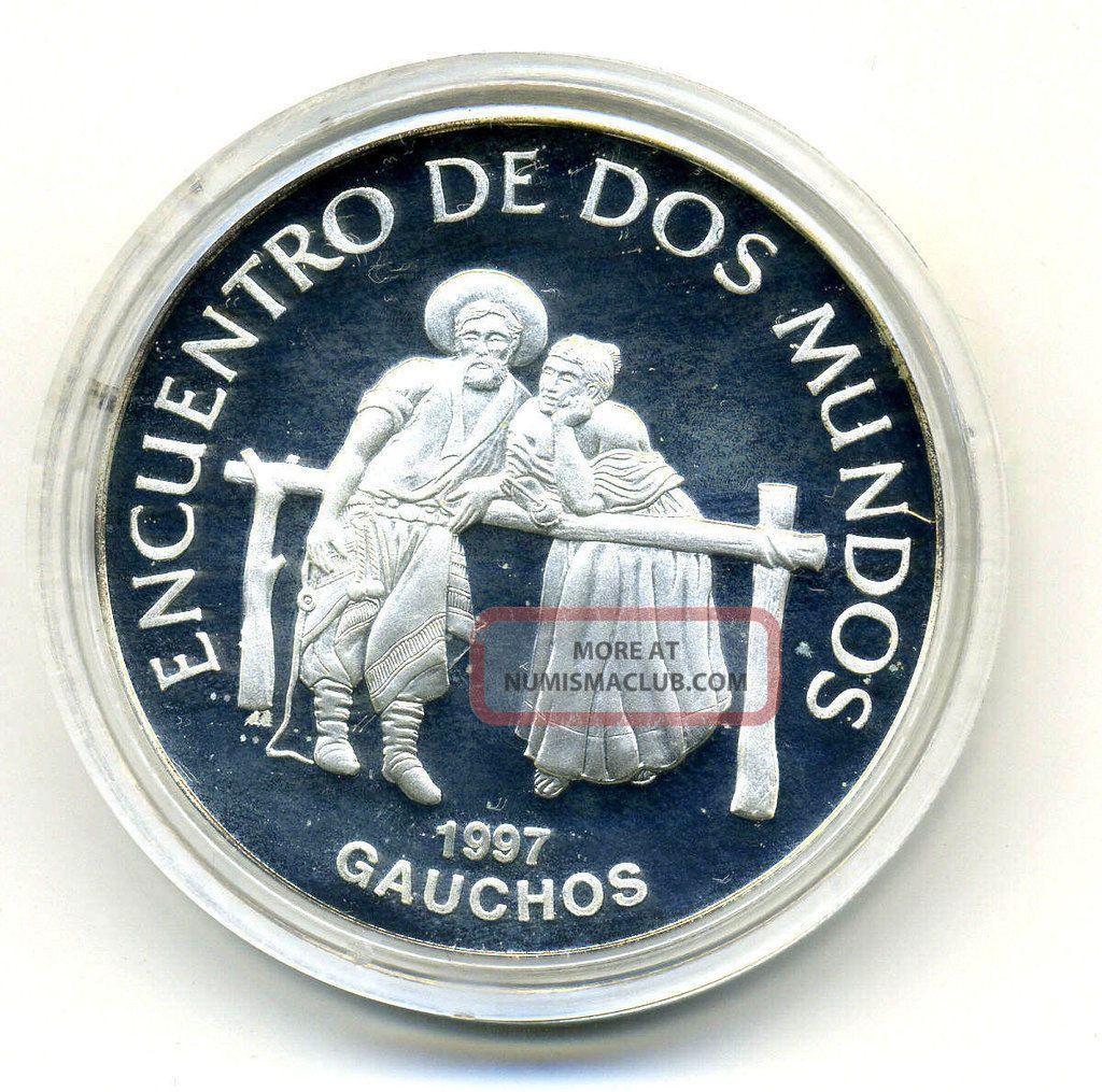 Uruguay 250 Pesos 1997 Gauchos Km 114 Proof Ref 2 South America photo